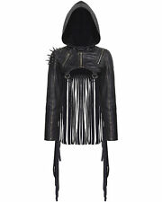 Faux Leather Other Cropped Coats & Jackets for Women