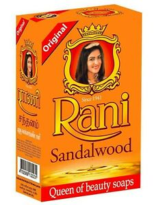 4 x 90g Rani Ayurveda Soap Red Sandalwood Soap Pure Natural from Sri Lanka