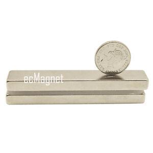 (Pack of 2) Super Strong 50mm x 6mm x 3mm Neo Neodymium Long Bar Block Magnets