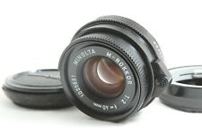 【 NEAR MINT 】 MINOLTA M ROKKOR 40mm f/2 Lens Leica M Mount for CL CLE from JAPAN