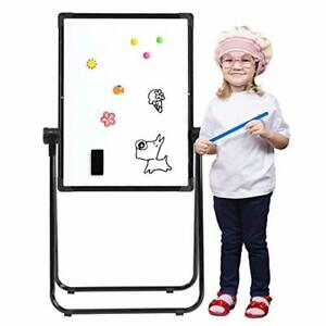 """Kids Art Easel Double Sides Whiteboard 24"""" x 18"""" Black Craft Toy Fun Accessory"""