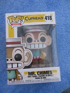 POP GAMES MR CHIMES CUP HEAD - VINYL FIGURE 418  - FUNKO FIGURINE BOXED