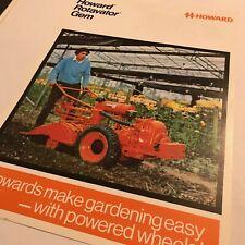 HOWARD Rotavator Gem -  Original 1970s Vintage Sales Brochure