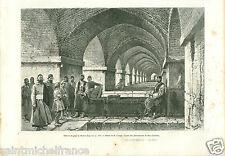 Bridge Pont Hassenberg Ispahan Iran Persia Perse GRAVURE ANTIQUE OLD PRINT 1884