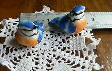BLUE JAY BIRDS - 2 pack - 27mm High x 40mm Long x 25mm Wide -Touch of Nature