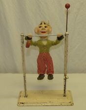 Old 1950s Arnold US Zone Germany Mechanical Acrobat Metal & Paper Mache Doll Toy