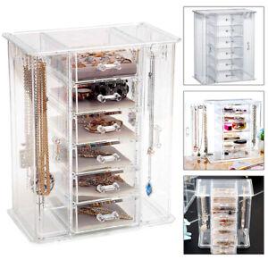 6 MakeupDrawers  Holder Jewellery Case Box Storage  Organiser Acrylic UK SELL