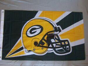 GREEN BAY PACKERS HELMET 3x5ft flag superior quality GENUINE NFL Lic