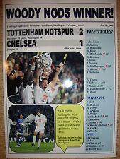 Tottenham Hotspur 2 Chelsea 1 - 2008 Carling Cup final - souvenir print