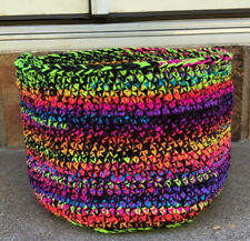 New ListingBaskets Handmade Crochet Multicolored 8� Tall 11� Wide