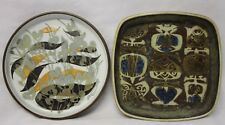 Lot 2 Royal Copenhagen Fajance Modern Square Round Dish Faience