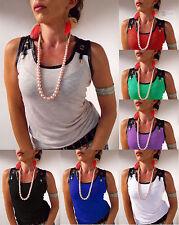 Ärmellose Damenblusen,-Tops & -Shirts mit Baumwolle für Business ohne Mehrstückpackung