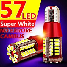 2 LED T10 57 SMD NO Errore 3014 BIANCO Lampade Lampadine Xenon Luci Posizione 5W