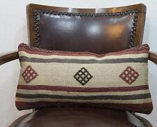 25x50 cm Lumbar Pillow Striped Wool Lumbar Kilim Cushion Cover Decorative Pillow
