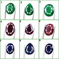 9 Pcs natürliche Smaragde Rubine & Saphire gemischt facettiert Ringgröße Lot
