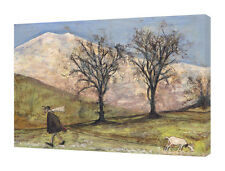 Sam Toft - Walking With Mansfield - 60 x 80cm Canvas Print Wall Art WDC90556