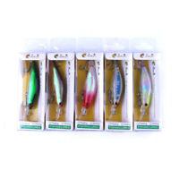 5PCS 8cm/6.3g Trolling Bait Minnow Fishing Lure Bass Crankbait Tackle Wobbler