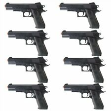 QTY 8 - Dark Ops Airsoft P338 Airsoft Hand Gun Full Size Spring Pistol w 6mm BBs