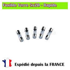Fusible verre 5x20 - Rapide 800mA/250V