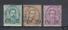 REGNO 1890 PO N.56/58 3 VAL.UMBERTO I SOPRASTAMP USATI
