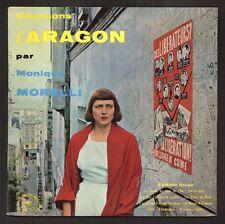 MONIQUE MORELLI 25CM de 1961 CHANSONS D'ARAGON / MUSIQUES: BRASSENS et FERRE