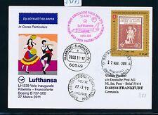 59173) LH FF Palermo Italien - Frankfurt 27.3.2011, So-Karte ab SMO Malta