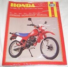 Haynes Manual HONDA XL XR XL80 XR80 XL100 XR100 XL125 XR125 XL185 XR185 XL200 XR