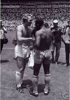 Pele Bobby Moore World Cup Shirts BW 10x8 Photo