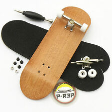 Peoples Republic - 30mm Complete Wooden Fingerboard - Cherry - Basic Nuts