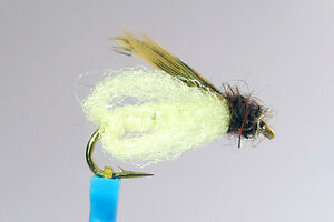 1 x Mouche Nymphe LAFONTAINE PUPE NACRE H12/14/16 nymph fly truite trout