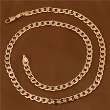 """Chain Long Necklace Jewelry 20.5"""" Lot Vintage 18K Gold Filled Womens Mens Cuban"""