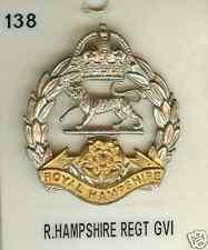 Cap Badge Royal Hampshire Regiment GV1 (No 138)