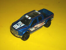 ## HOTWHEELS BLUE '15 2015 FORD F-150 CREW CAB PICKUP TRUCK MADE IN MALAYSIA