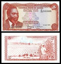 KENYA, 5 SHILLINGS ( 1978 ), P 15, UNCIRCULATED