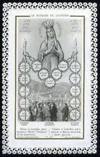 santino merlettato-holy card-canivet  MADONNA DI LOURDES