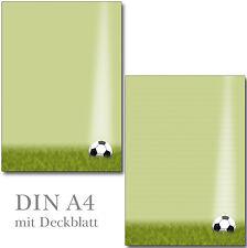 Schreibblock Fußball Ball liniert A4 25 Blatt Briefpapier Motivpapier Kicker