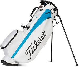 Titleist Golf 2021 Players 4 Stand Bag COLOR White/Dorado Top: 4-Way TB21SX4-144
