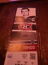 Montreal Canadiens 2013 Season  Unused Ticket Stub MAURICE ROCKET RICHARD