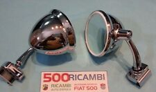 FIAT 500 F/L/R 126 COPPIA SPECCHIO A CALICE ROTONDO CROMATO RETROVISORE ESTERNO