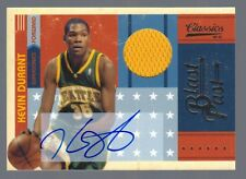 2010-11 Classics Kevin Durant Jersey Auto Blast from the Past #2/25
