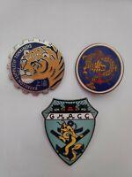 Lot de 3 insignes troupes coloniales de Chine - Refrappe de qualité