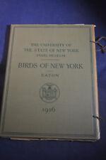 1916 *COLOR PLATES* Birds of New York 106 Plates Portfolio!