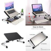 Adjustable Laptop Stand Lap Computer Desk Table Bed Couch Picnic Breakfast Book
