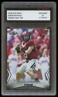 BAKER MAYFIELD 2018 LEAF DRAFT 1ST GRADED 10 ROOKIE CARD RC NFL CLEVELAND BROWNS