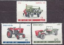 KOREA 1974 mint(*)  SC#1193/95  set, Farm Machines.