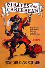 """Vintage Disney Pirates Of The Caribbean 1967 [ 8.5"""" x 11"""" ] Glossy Poster"""