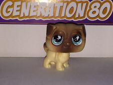 Littlest PetShop CARLIN CREME ET MARRON 623 g012 DOG CHIEN Pet Shop