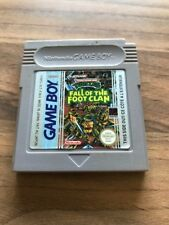 Game Boy :    TURTLES FALL OF THE FOOT CLAN       PAL