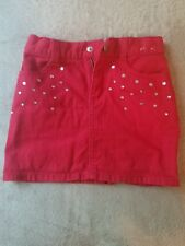 Gymboree Girl's Red Denim Mini Skirt Size 5