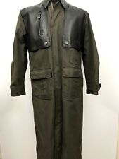 Harley Davidson Trench Coat Duster Riding Jacket Heavy Canvas Leather Cape Small